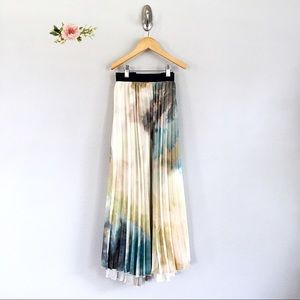 WD.NY Tie Dye Long Pleated Skirt